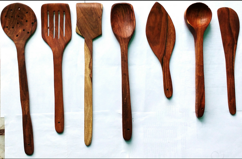 Handmade Wooden Serving And Cooking Spoon Kitchen Tools C Set Of 7