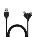 iPhone Cable (Y Shap ) 2 IN 1 E - 055