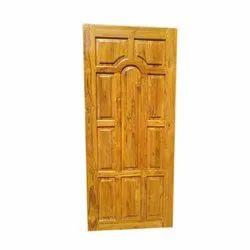 Hinged Teak Wood Laminated Door, Size: 8x4 feet