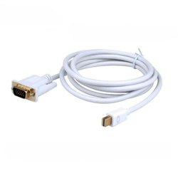 Mini DisplayPort Thunderbolt Mini DP Male to VGA Male Adapter Cable for MacBook Pro Air