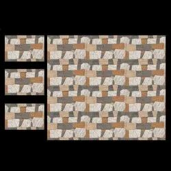 Ceramic Glossy Elevation Wall Tile 12*18, Thickness: 6 - 8 mm