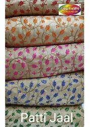 Polyester Banglori Satin Jari Embroider