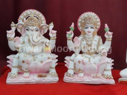 Laxmi Ganesh Marble Moorti