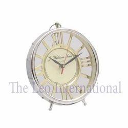 Roman Letter Metal Dial Decorative Table Clock