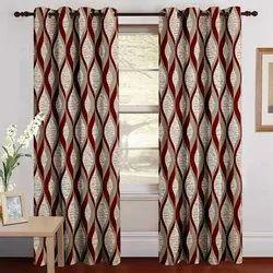 Threadmix coffee firozi maroon 1029 Curtain, For Door window