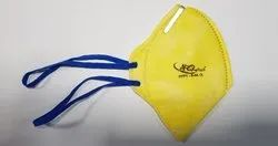 Non-Woven Flat Fold Airofresh A-44 Yellow Colour Dust Mask