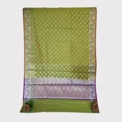 Green Dupian Silk Saree