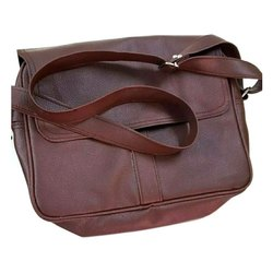 Brown PVC Leather Executive Shoulder Bag, For Office
