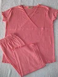 002 Pink Tummy Pajama