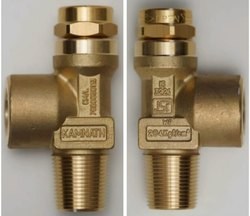 Brass High Pressure Key Type O2 Cylinder Valve, For Industrial