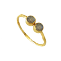 Bombshell Round Careable Red Onyx Gemstone Vermiel Gold Plated Handmade Simple Womens Ring