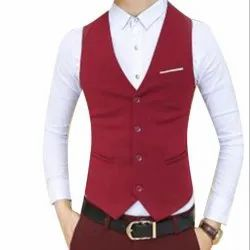 Cotton Wedding Men Vest Valet Pink Waistcoat