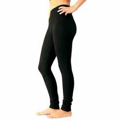 Plain Black Churidar Leggings, Size: Free Size And 3xl