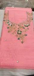 Chanderi Handwork Kurti Material