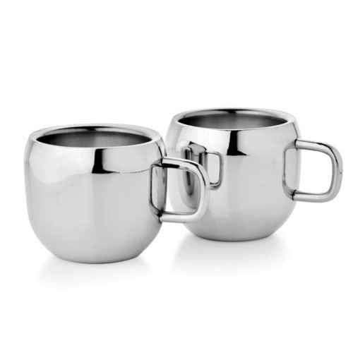 Silver Stainless Steel Coffee Cup Usage Home Office