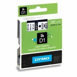 Dymo 9mm Black White Tape