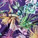 "42-64"" Multicolor Linen Digital Fabric, For Garments, Gsm: 150-200"