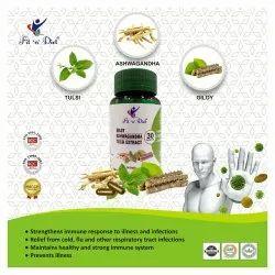 Giloy Ashwagandha Tulsi Extract Capsules, 30 Capsules, Prescription