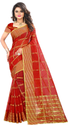 Printed Georgette Maroon Color Manipuri Woven Saree, 5.5 M (separate Blouse Piece)