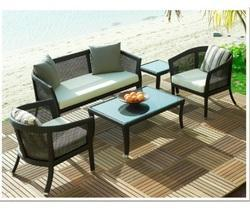 Outdoor Wicker Patio Conversation Set