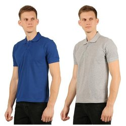 Mens Plain Polo Neck T-Shirt