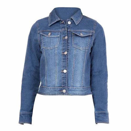 911b87f48a Ladies Blue Faded Denim Jacket