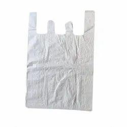 White Plain PP Woven E Cut Carry Bag, For Grocery, Capacity: 2 - 4 Kg