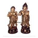 Pure Brass Radha & Lord Krishna Statue