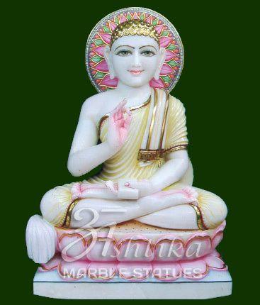 Marble Jain Statue Gautam Swami Marble Statue