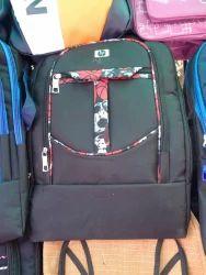 Polyester Plain Hp Black Girls School Bag