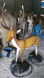 Deer Fiber Statue, For Interior Decor And Promotional Use