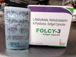 L- Methylfolate, Methylcobalamin, Pyrodoxine Softgel Capsule
