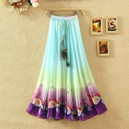 003dee46d Multicolor Flared Ladies Long Skirt, Rs 170 /piece, Shadez | ID ...
