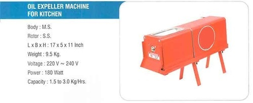 Automatic 180 Watt Kitchen Oil Expeller, Capacity: 1.5 kg per hour
