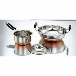 Savitha Stainless Steel Kadai and Pan Set