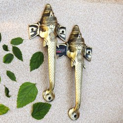 Brass Decorative Door Handle Ganesha Pull Handle Fancy Hardware
