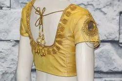 Yellow Silk Bridal Blouse