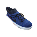 Blue And White Fashion Canvas Shoes, Size: 6 To 10