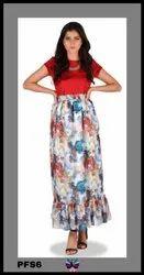Printed Western Skirt