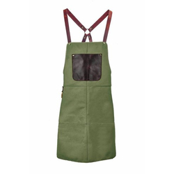 Green Plain Leather Apron, Application: Safety Protection