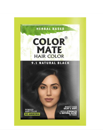 7522997c8 Color Mate 9 Point 1 Natural Black Powder Hair Color, Pack Size: 15g Each