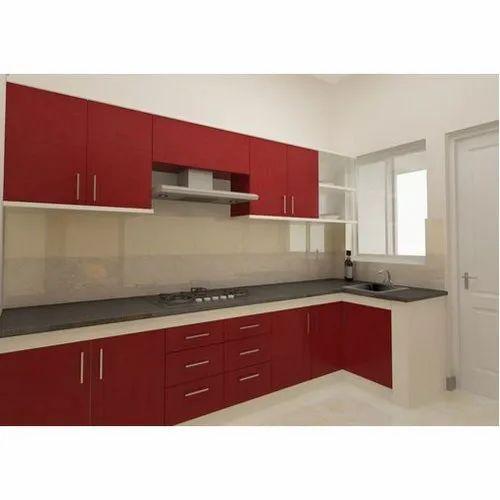 l shape acrylic modular kitchen rs 1200 square feet