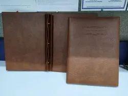 Brown PU Leather Menu Folder