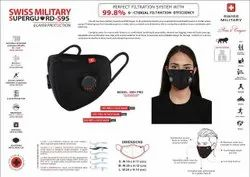 Swiss Military Reusable Mask With Respirator- Sitra Approved, Number of Layers: 6