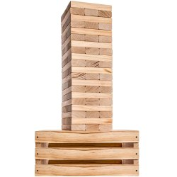 KD Jenga Large Wood Block Stacking Game for Adults