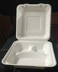 Paper Meal Tray 3cp with Lid
