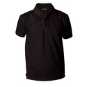 Plain Black Cotton Polo T Shirt