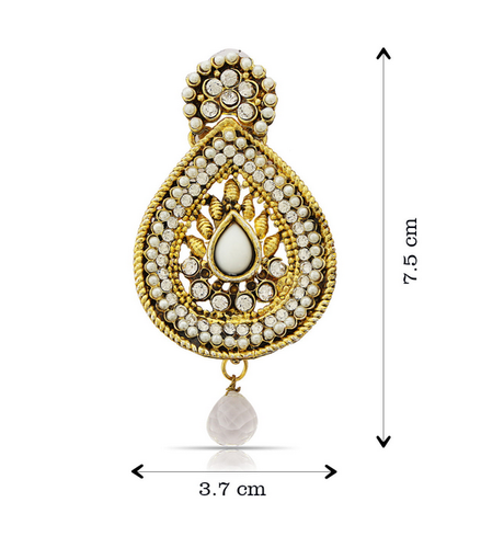 6e5fd9cb463 Beige The Luxor Designer Gold Plated Earrings, Rs 259 /pair | ID ...