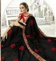 Designer Embroidery Chiffon Saree