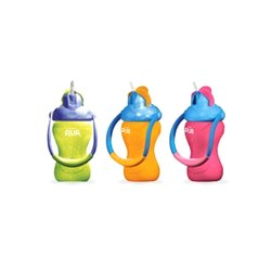 Yellow, Orange And Pink Screw Cap 250 Ml Plastic Baby Bottle, For Drinking Water